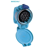 MARECHAL PN12C SOCKET PLY BLUE IP66/67