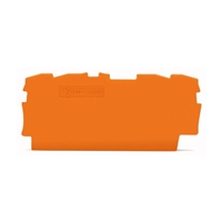 WAGO END PLATE 0.7MM ORANGE (PACK OF 25)