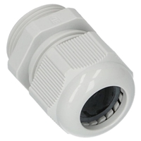 IP68 PLASTIC CABLE GLAND M12 GREY RAL